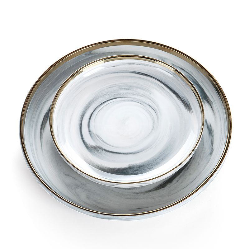 Kitchen Accessories 2019 Gold Charger Plates, Grey Dinner Set, Marble Dishes And Plates