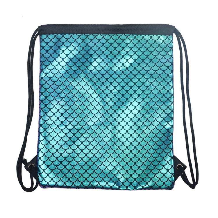 product-Osgoodway-Osgoodway2 Mermaid drawstring laser PU leather gym backpack birthday shopping gift