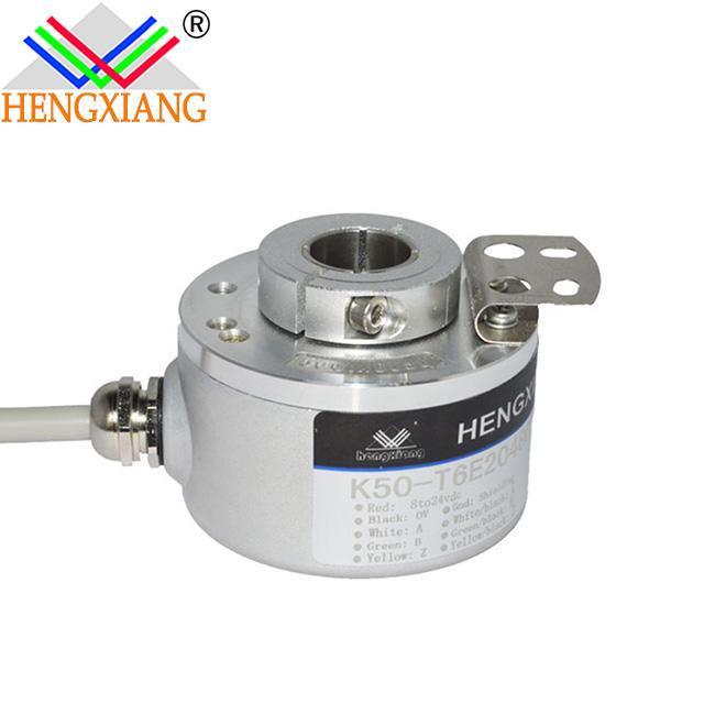 K50 hengxiang end shaft hole 12mm 2048 PPR Hollow Shaft Rotary Encoder 10000 line encoder