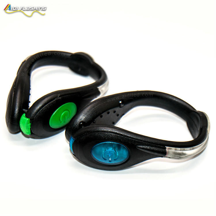 Outdoor Safety Shoe Clip Running Light USB Recharge Flashing LED Night Light