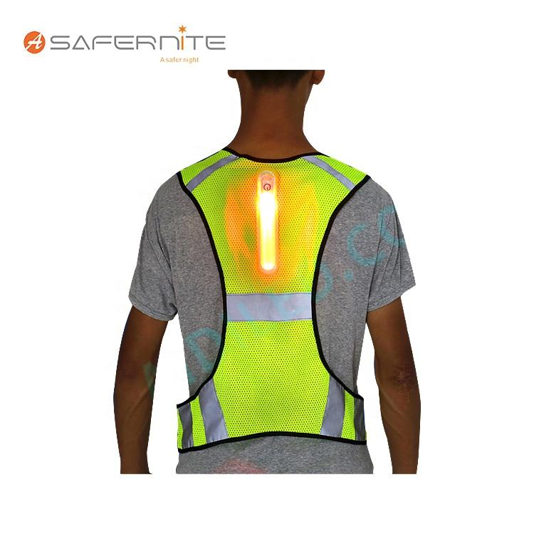 Reflective Traffic LedSafety Vest Detachable Led Light with Safety Vest for Cycling Running at Night