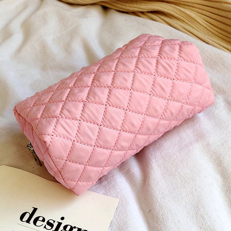 product-Osgoodway-Osgoodway2 Nylon Travel Makeup Bag Waterproof Pink Portable Quilted Women Cosmetic