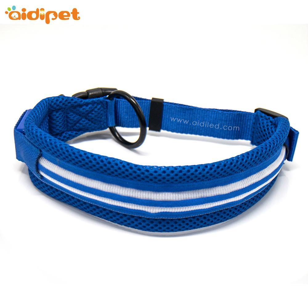 Hot sale wholesale Padded Adjustable Pet Led Collar Soft Wearing Anti-losting Flashing Luminous Dog Collar