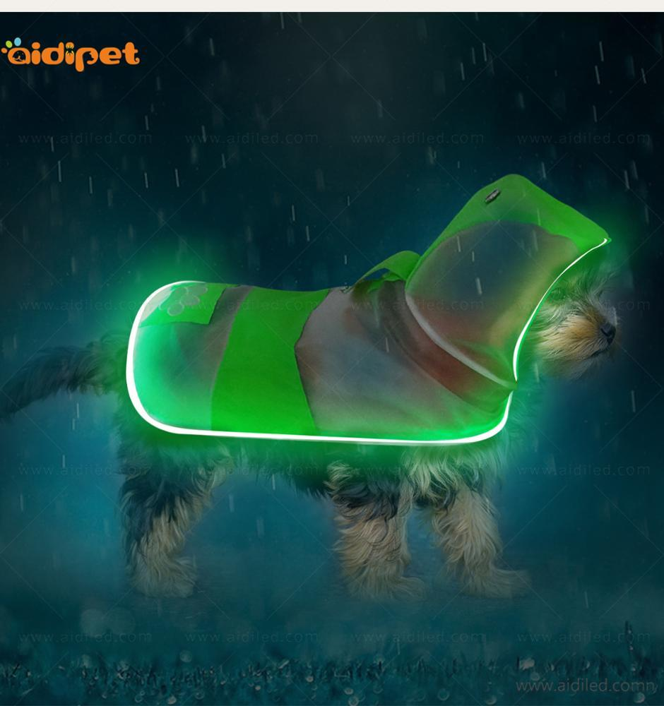 Transparent Waterproof Pet Dog Raincoatreflective safety design big dog clothes
