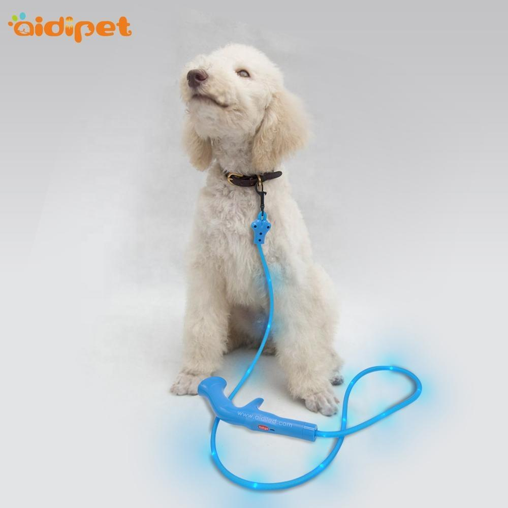 Waterpoof Dog Led Leash PVC Nylon Material Flashing TUBULAR SHAPELead for Dogs Dot Light Led Dog Lead from China