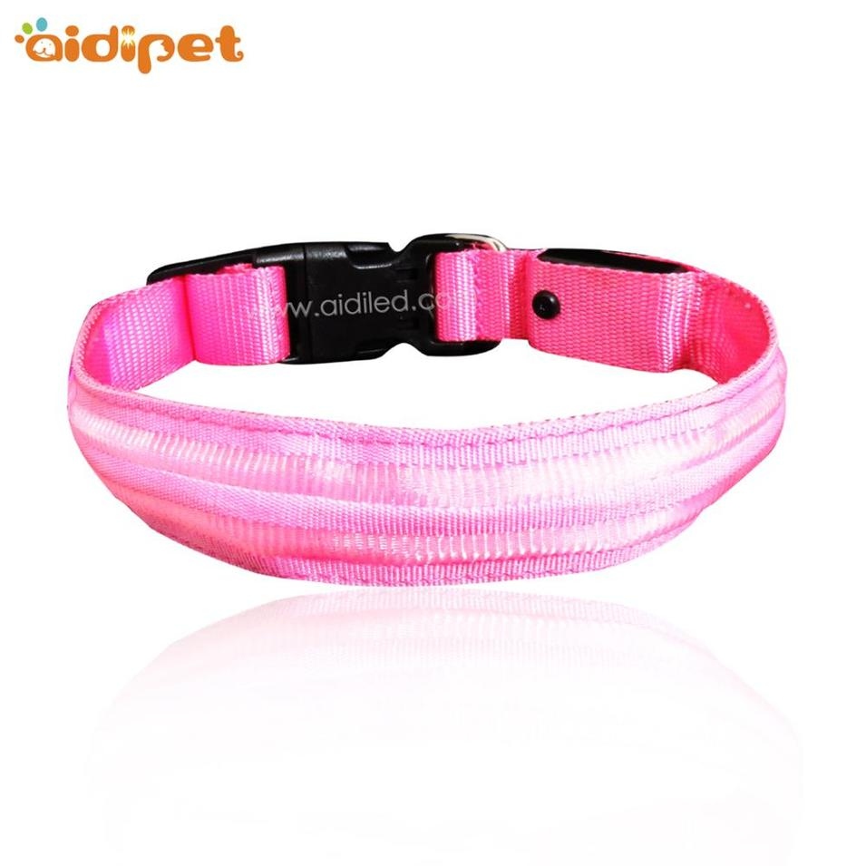 Wholesale Night Flashing LED Light Dog Collar for Safety