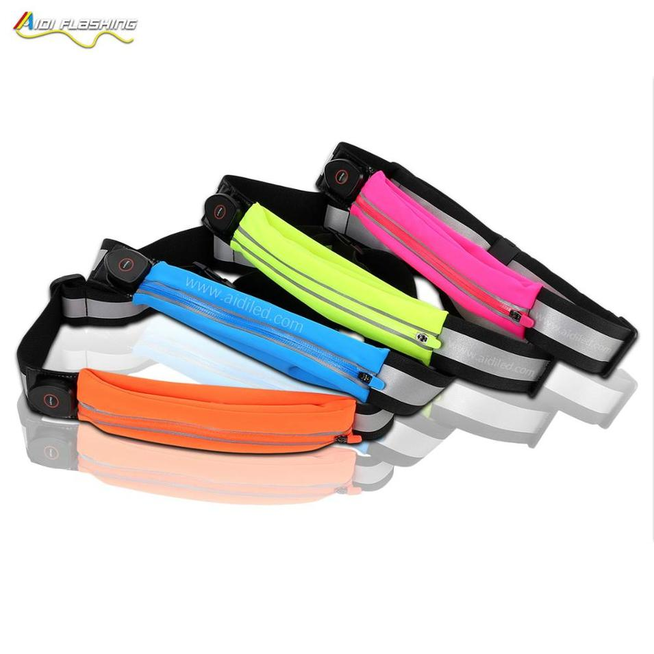 Factory Price rechargeable nylon waist led bag