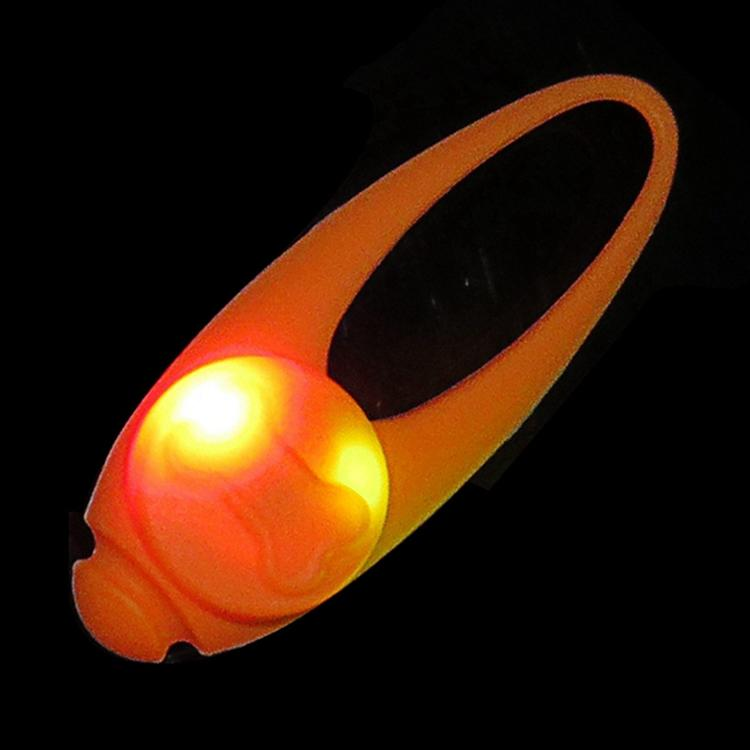 2017 Clip-on Silicone Dog Safety Light and Waterproof Led Dog Collar Pendant