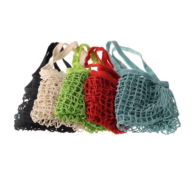 Osgoodway18 New Reusable Solid Shopping Bag String Grocery Bag Shopper Cotton Tote Mesh Net Woven Portable Durable Shopping Bag