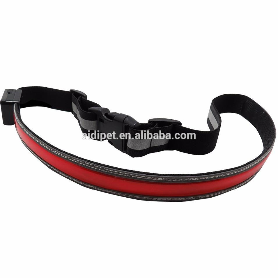 USB Rechargeable LED Safety Waist Belt- High Visibility Safety Gear for Running