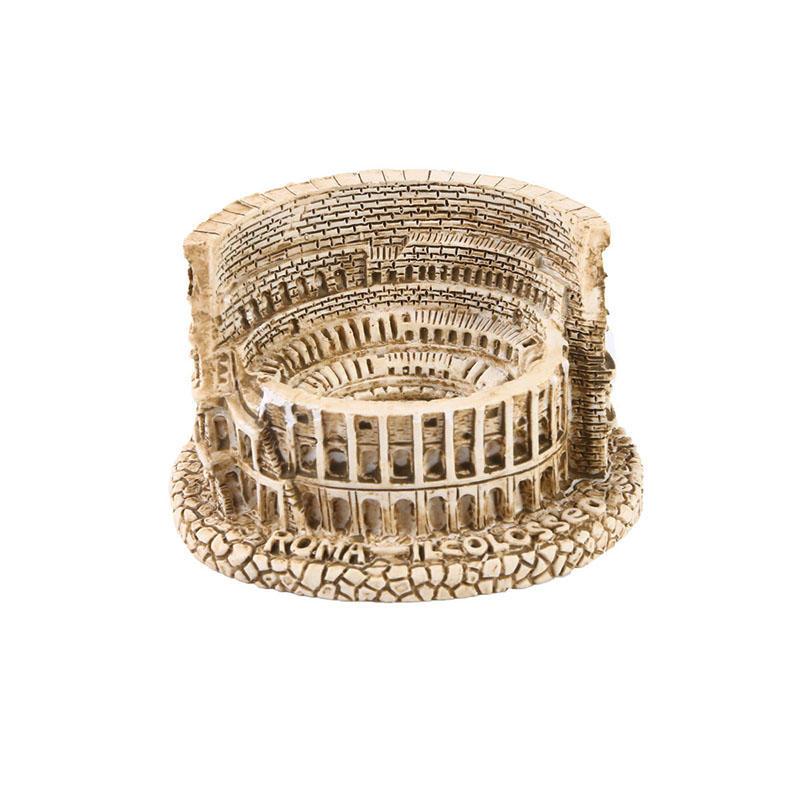 Roman Colosseum Sculpture Modern Art Vintage Building Statue Resin Crafts Psychological Sand Table Decoration
