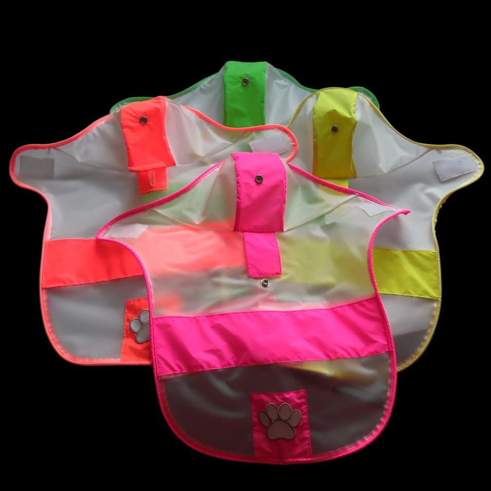 Dog Raincoats, Fashion Dog Rain Poncho, Reflective Strips and PU Waterproof Raincoat for Dogs