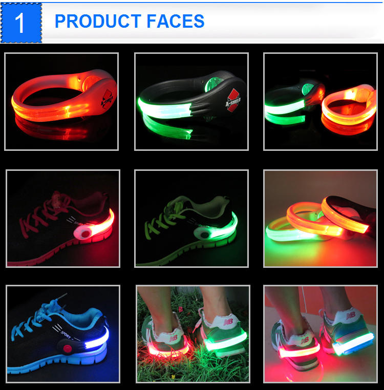 2019 New Outdoor Led Warning Light For Runner Night Safety Led Shoe Clip Light