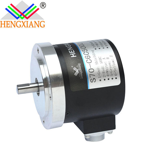 70mm solid shaft encoder 24V DC Motor Rotary Encoder Price Distance Sensor Position ABZ phase,NPN output