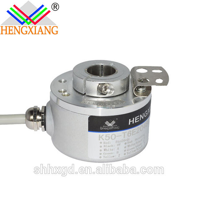 K50 hollow shaft encoder motor dc 12v 24v encoder gear motor