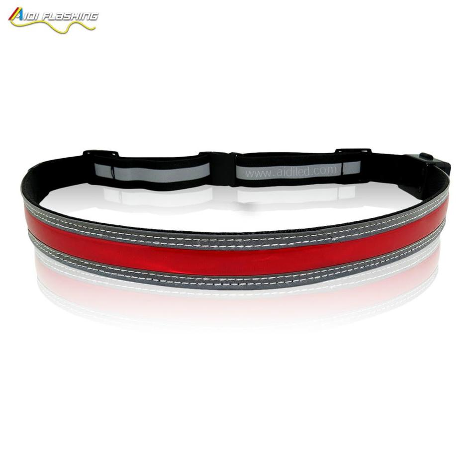 Custom Waterproof Outdoor Nylon Running Sports Fanny Pack led Waist Bag