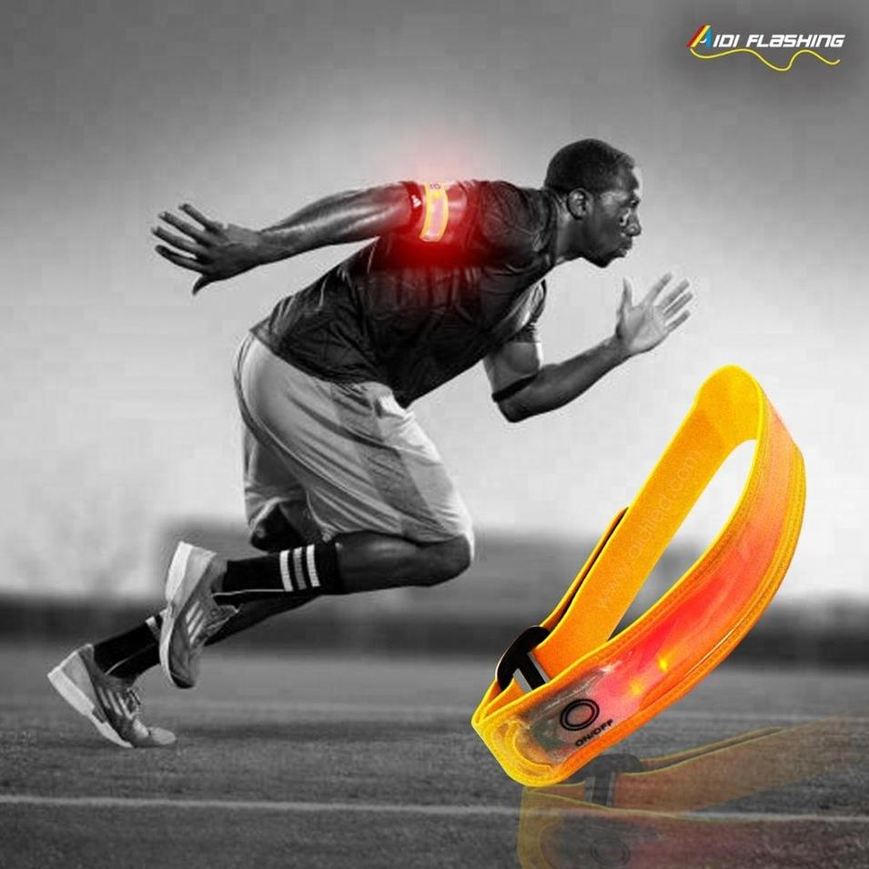 High Quality Elastic Custom Print Reflective Running Sport Led Armband