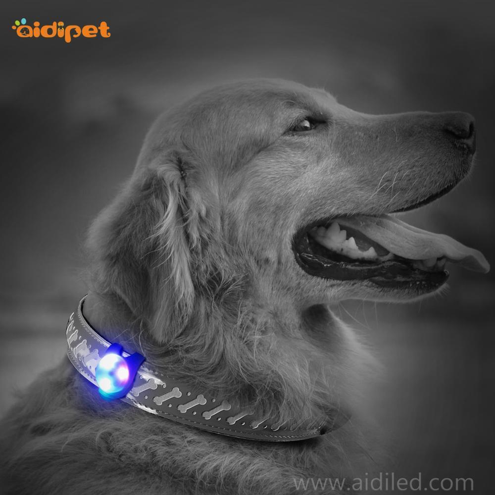 Flashing Led Funniy Silicone Dog Collar Pendent