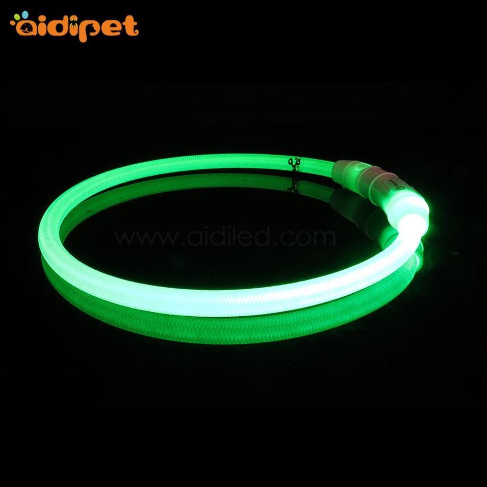 High Visibility Webbing LED Flashing Dog Collar