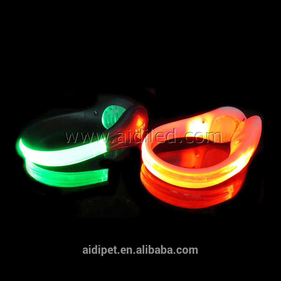 Optical Fiber Led Luminous Shoe Clip Safety Light For Runners