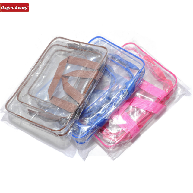product-Osgoodway-Osgoodway Toiletry Bags 3 in 1 Gift Makeup Bags and Cases Plastic Bag Clear PVC Tr