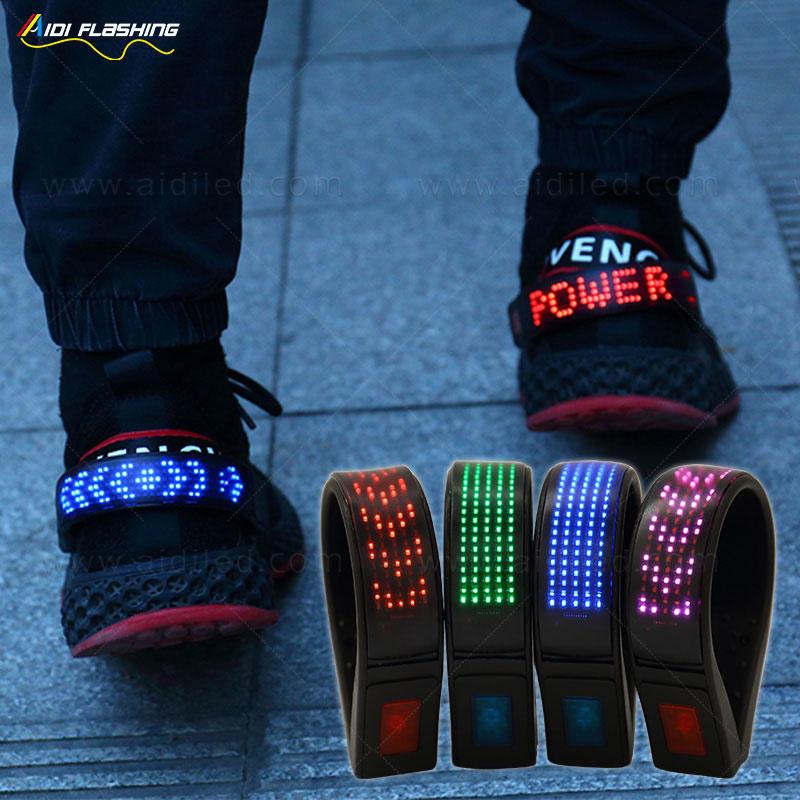 Wholesale promotion newest design rechargeable Led display shoe clip