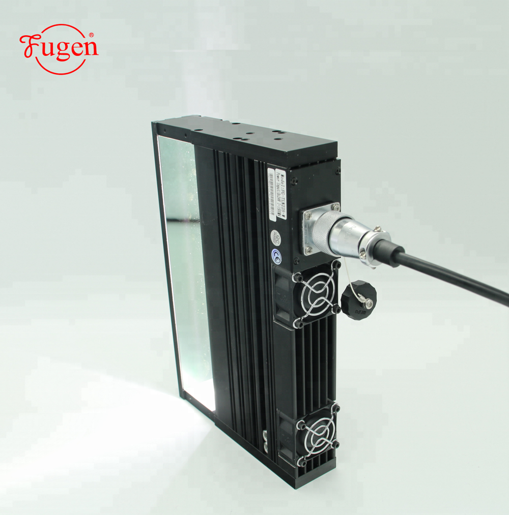 Coaxial line scan vision machine light for inspection