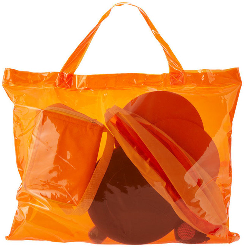 Osgoodway Large Light weight Oversized Pockets Waterproof PVC Women Multi Color PVC Handbag Set for Beach Traveling