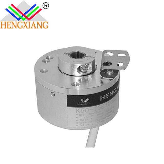 through hole 14mm encoder K50 Elevator Rotary Encoder Hollow Shaft Heavy Duty Torque 200 line