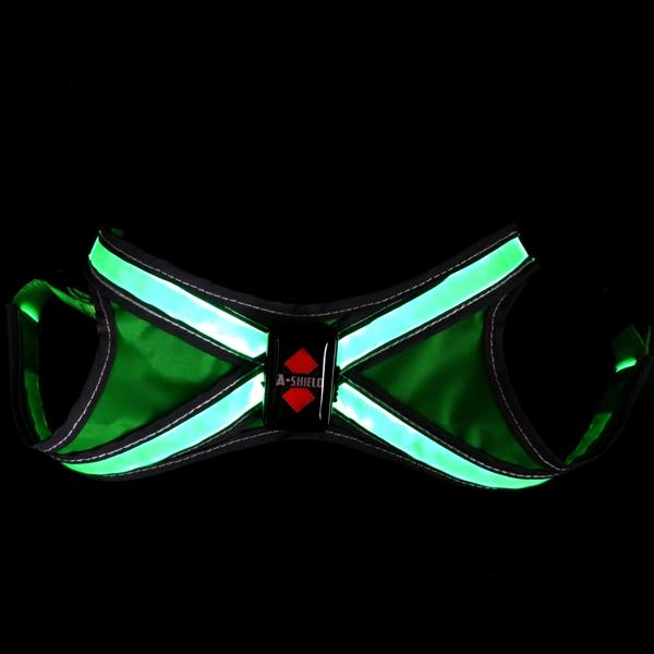 Waterproof Led Reflective Dog Harness Pet Harness for Safety Decoration USB Rechargeable Harness