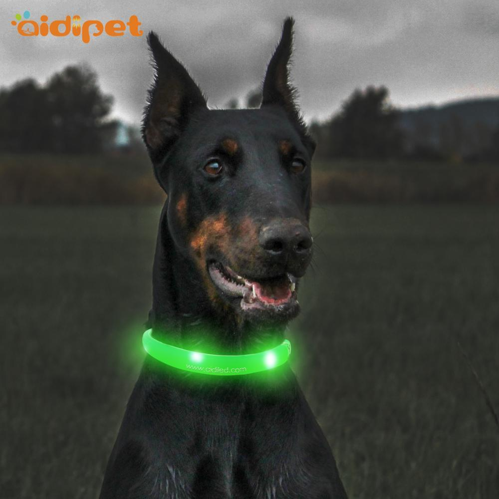 Wholesale Pet Accessories Safety Silicone Glowing Led Dog Collar