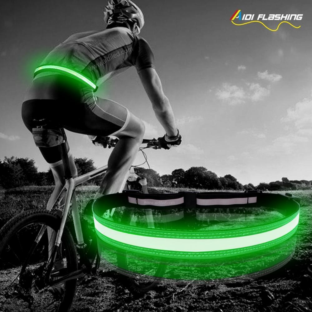 AIDI Hot Selling Led Reflective Belt for Runner Night Run Safety Guard Belt with Led Light Outdoor Sport Accessory Belt