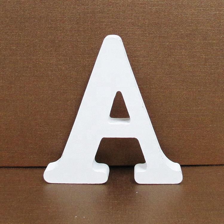 26 Pcs White Wooden Letters English Alphabet Lettre en bois for DIY Personalised Name Wedding Home Decor