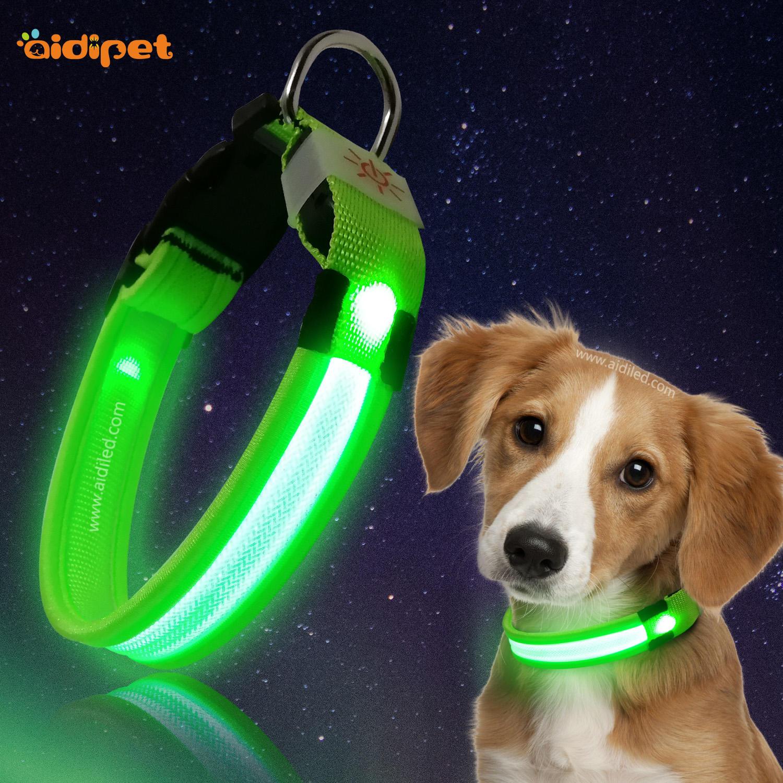 Customized Nylon Silicone LED Light Flashing Dog Collar