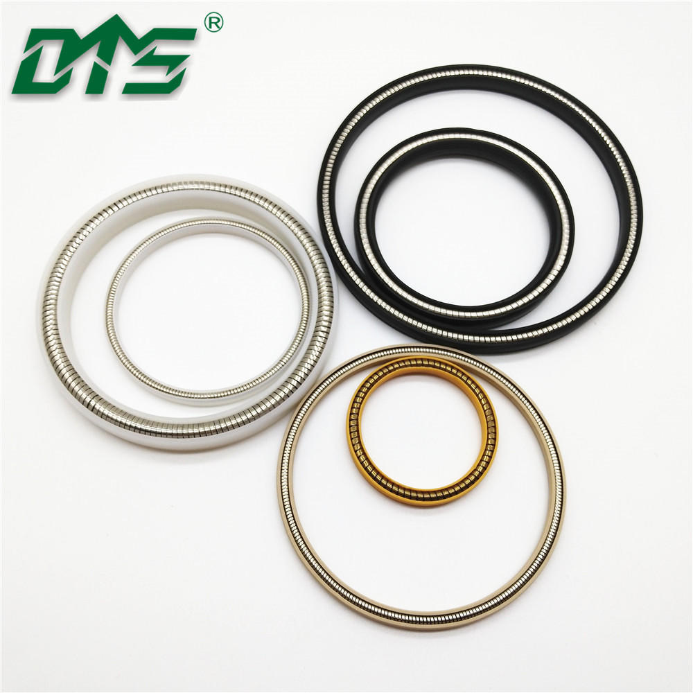 PTFE/UHMWPE/PEEK Spring energized Hydraulic Oil Seal Ring