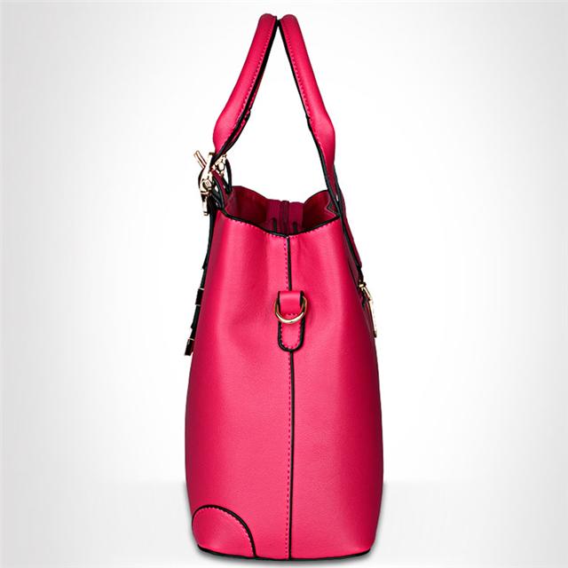 product-Osgoodway Fashion Vintage Genuine Leather Women Top Handle Handbag Purse Satchel Shoulder Ba-1