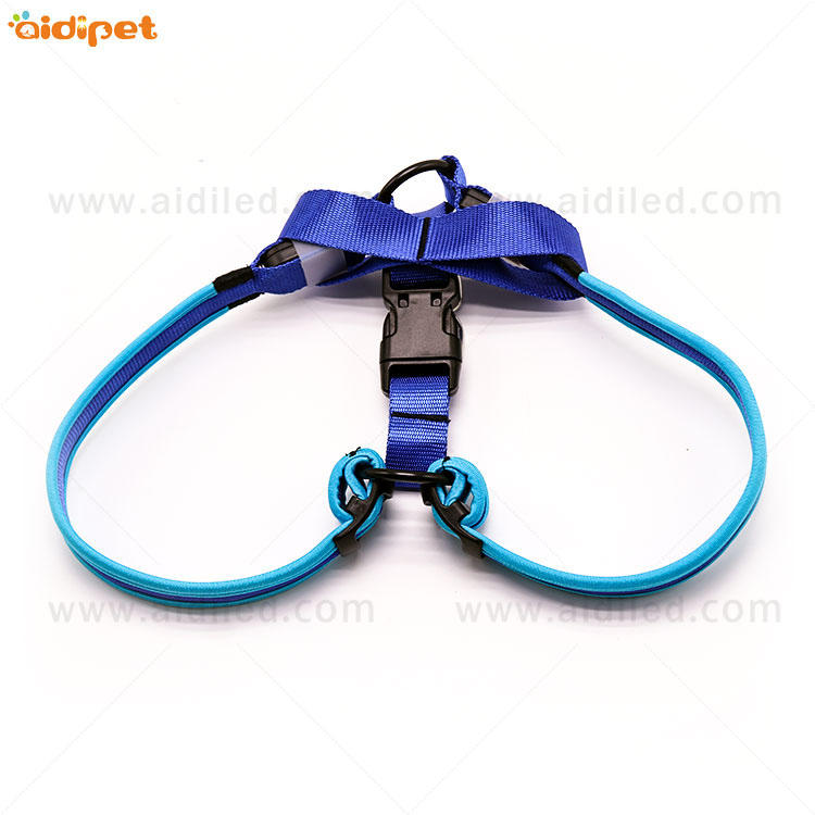 Amazon Hot Sell Pet Training Products Glowing at light Led Flashing Dog Harness