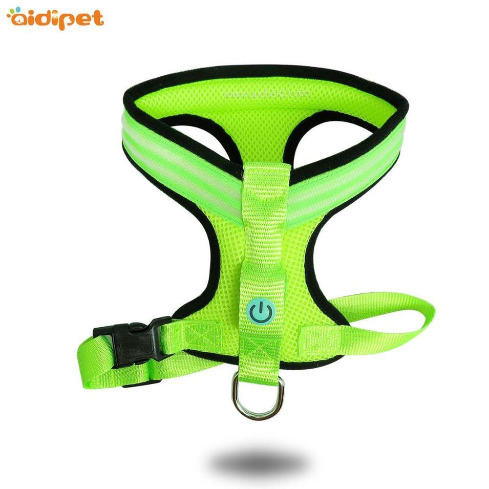 USB Rechargeable Led Dog Harness Vest, Reflective Led Safety Dog Harness