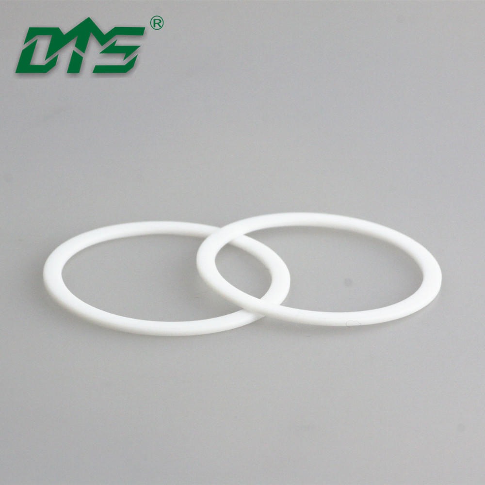 China Manufacture White Colour Pure VirginPoly Tetra Fluoroethylene PTFE Back Up Ring Seal By CNC
