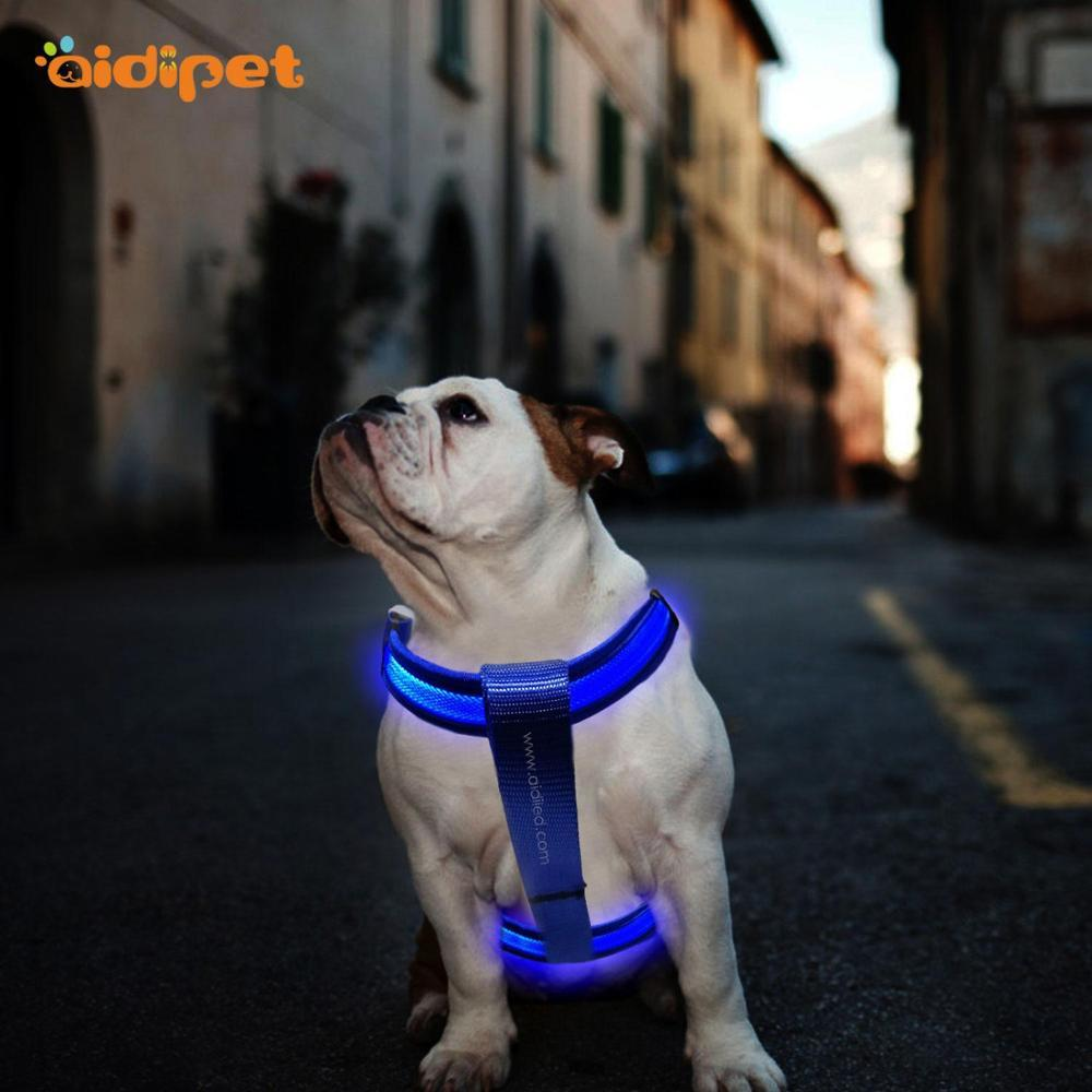 Wholesale Night Lighting Dog Training Safety LED Pet Harness
