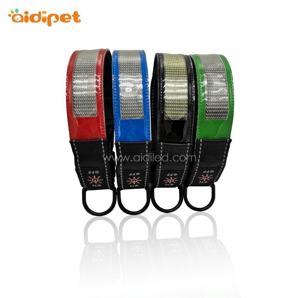 Adjustable Silicone Nylon Webbing LED Screen Dog Collar