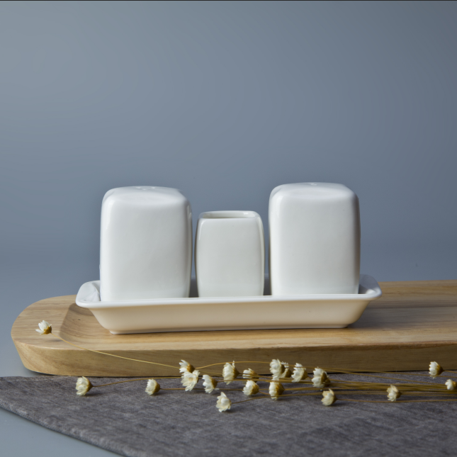 Ceramics factory crockery tableware salt and pepper shaker