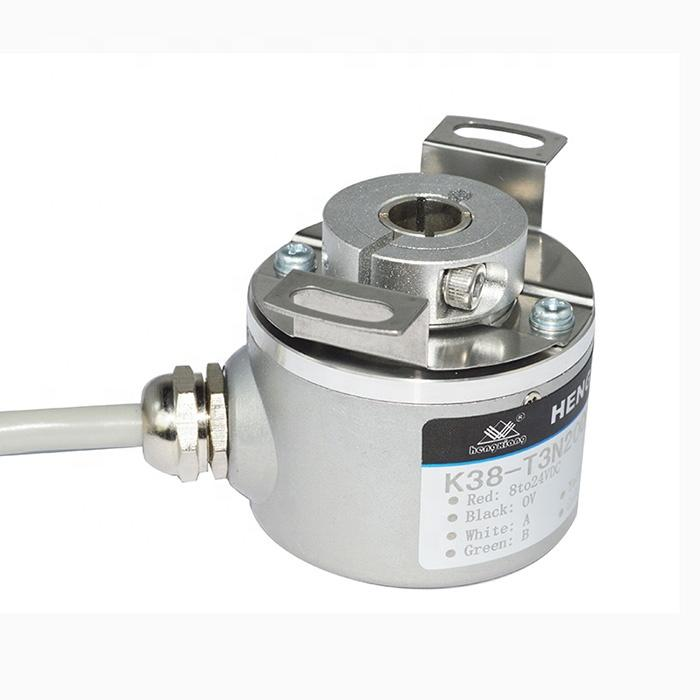 K38 radial cable 1000mm resolution 5000ppr DC5-30V NPN IP50 for high pulse incremental rotary encoder