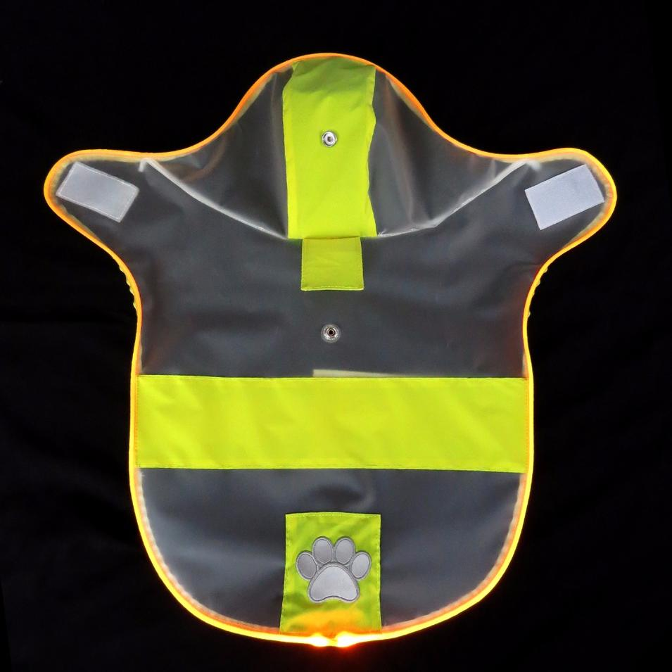 Eco-Friendly Dog Raincoat with Reflective Light for Night Safety Summer Pet Clothes Waterproof