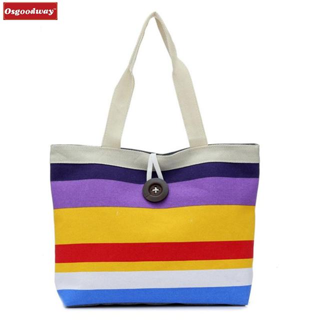 Osgoodway 2018 New Fashion Lady Shopping bags Shoulder Canvas female Womens Bag Tote Purse Bolsa feminina