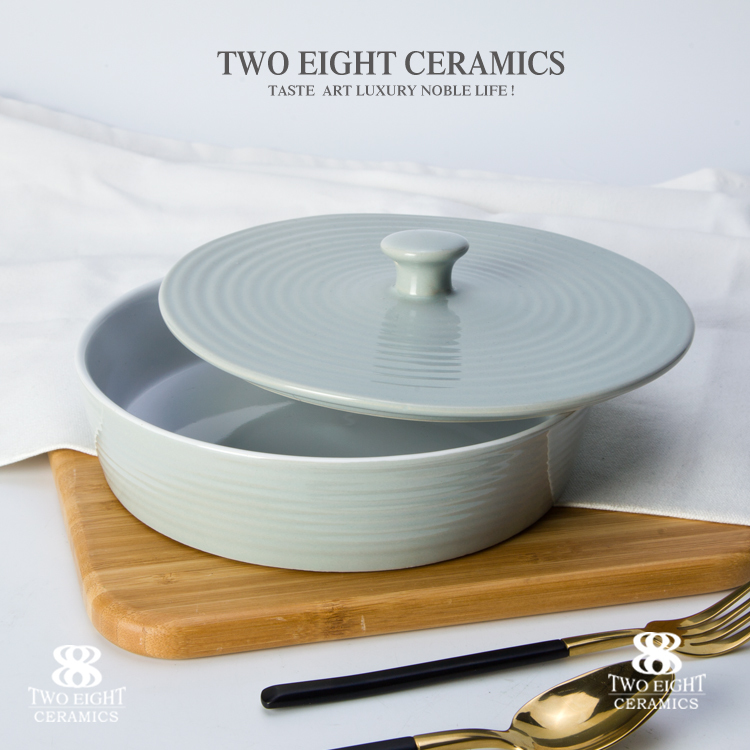 Hotel used ceramic bowl with lid, enamelware wholesale