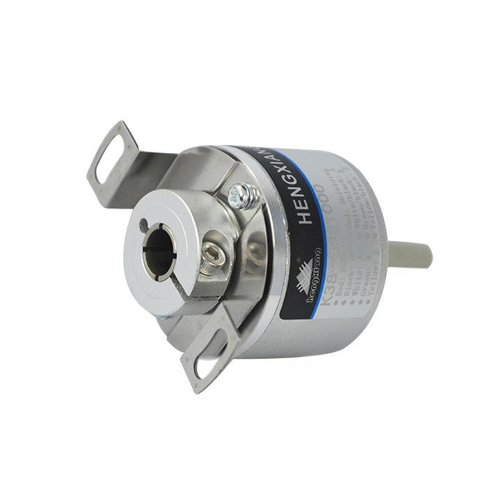 5mm rotary encoder K38 Hollow Shaft 37mm Displacement Encoder push pull circuit DC12V