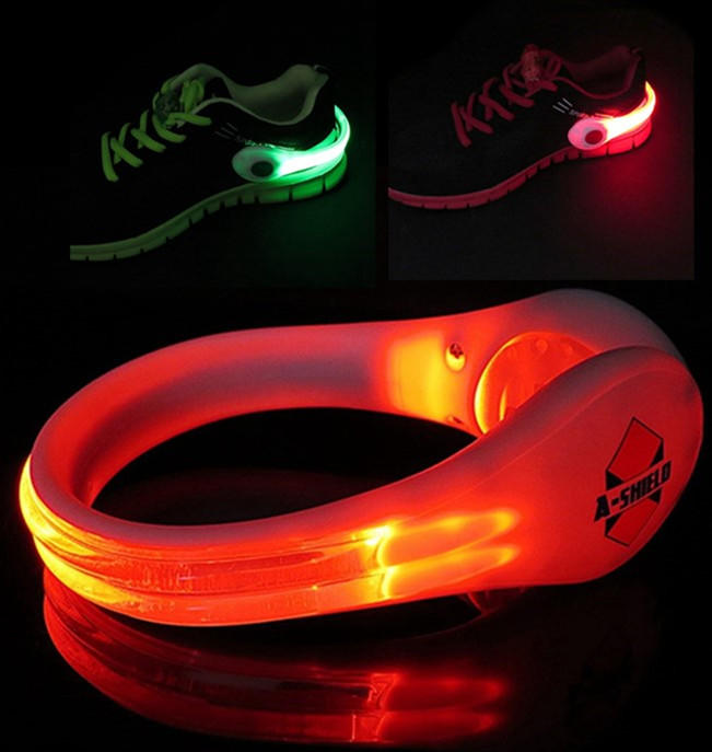 Running Safe Flashing Shoe Clip for Adults Night Jogging, Led Shoe Shoe light Accessories to Decrease Dangers