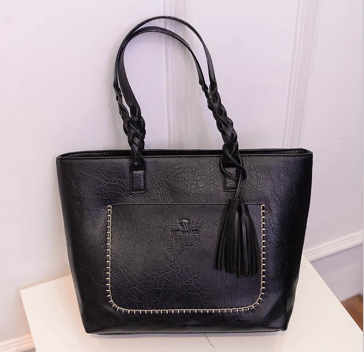 product-Osgoodway-Osgoodway23 Fashion Women PU Leather Bag Tassel Handbags Women Big Totes Bags Luxu