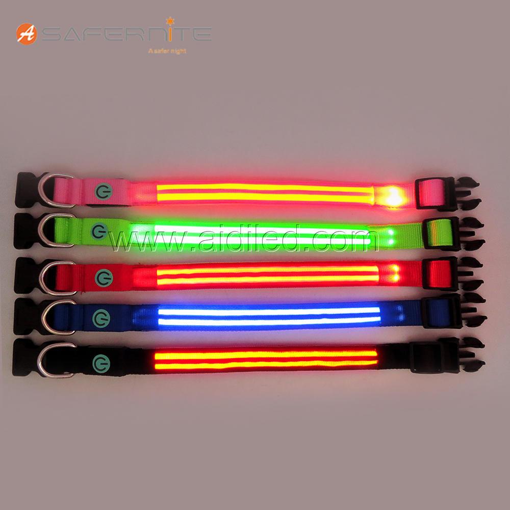 DC5 Custom Super Bright LED Light Up Dog Collar
